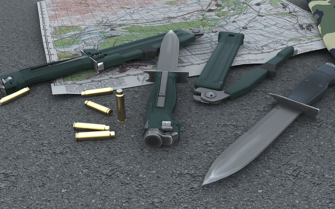 Нож разведчика стреляющий. © militarists.ru