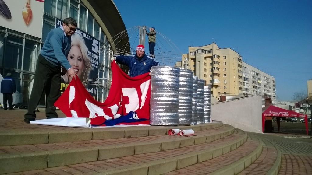 В Тамбове разобрали шапку-чемпионку. Фото ОнлайнТамбов.ру