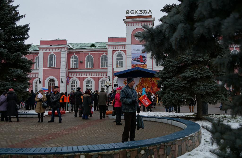 Жд-вокзал в Тамбове.