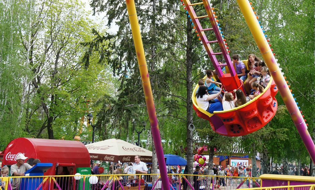 Городской парк культуры и отдыха в Тамбове. Фото Владимира Якимова.