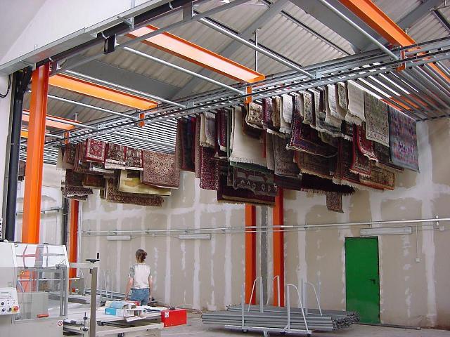 Чистка ковров на фабрике