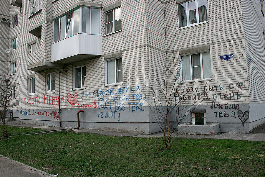 Вандализм на Ореховой,3