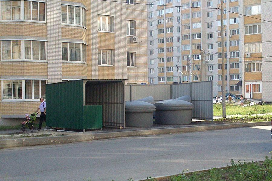 Мусорная площадка на улице Победы