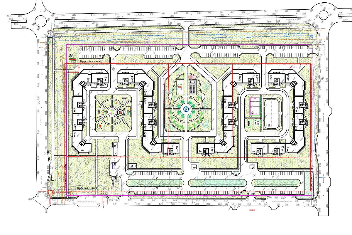 Модель планировки ЖК