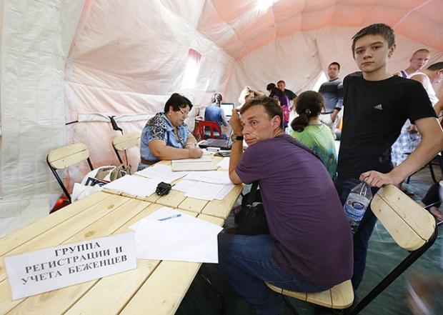 Беженцы с Украины. Фото ИТАР_ТАСС