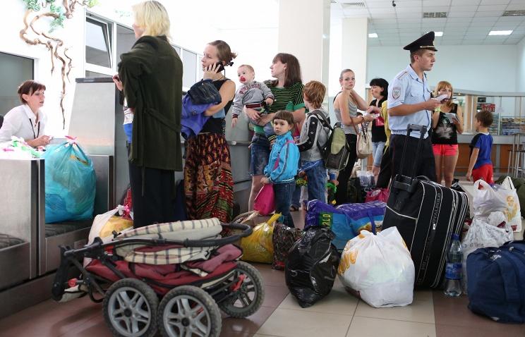 Беженцы с Украины. Фото ИТАР-ТАСС