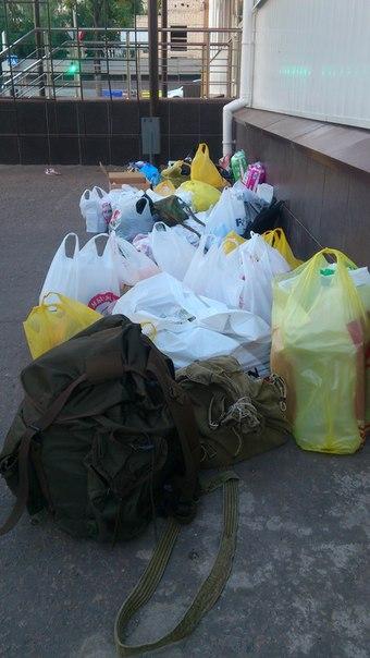 Сбор гуманитарной помощи жителям Донбасса