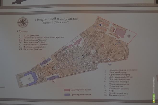Генеральный план участка усадьбы Асеева