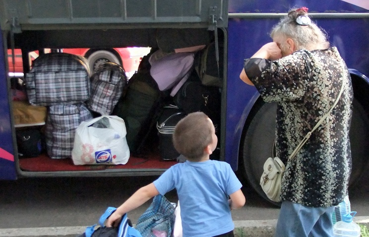 Беженцы с Донецка. Фото ИТАР-ТАСС