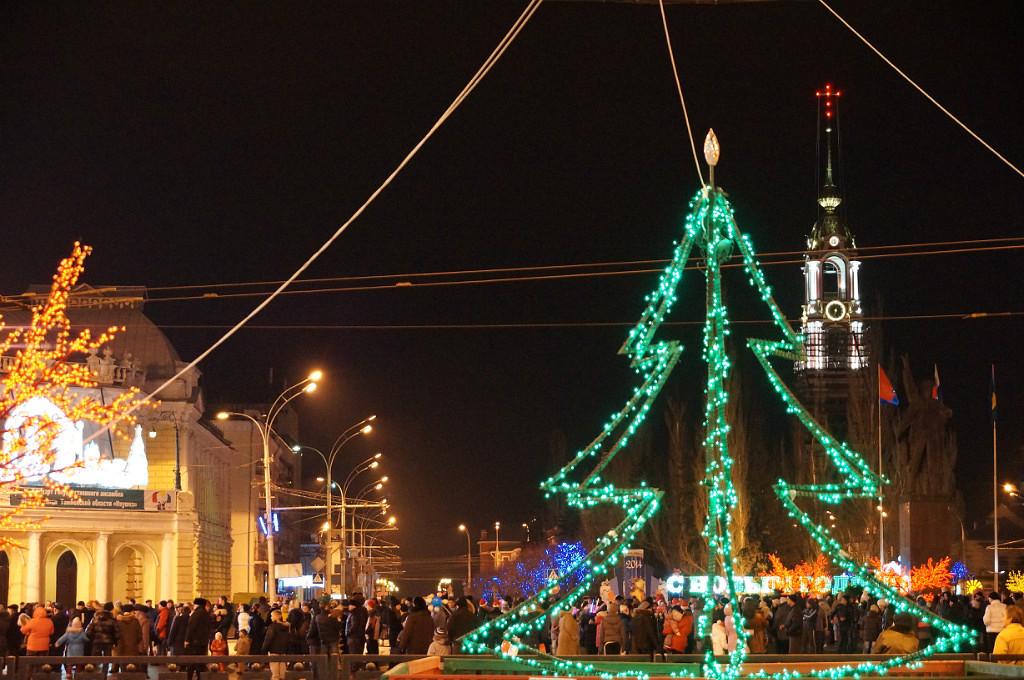 Новый год в Тамбове, фото Владимира Якимова