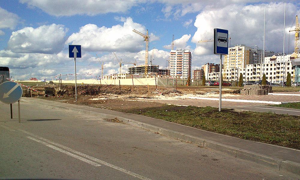 Строительство надземного пешеходного перехода