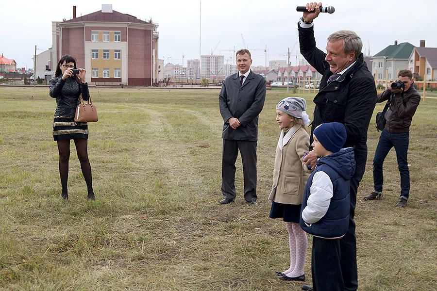 Алексанр Бобров дал старт строительству школы Сколково