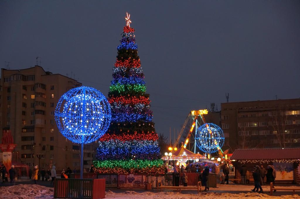 Новогодняя елка Тамбова. Фото Владимира Якимова