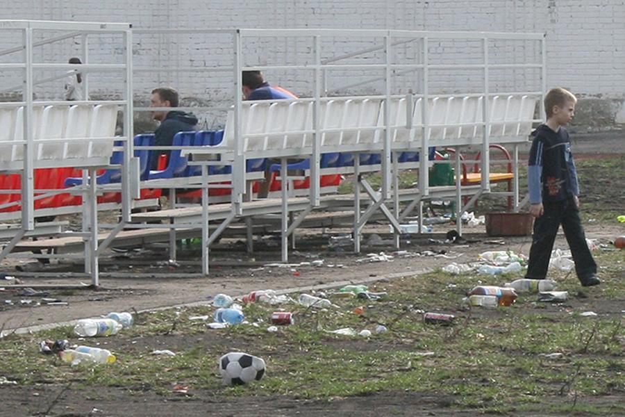 Мусор на стадионе