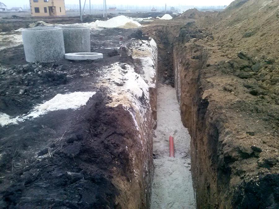 Строительство газопровода в Майском. Фото Андрея Крупенина