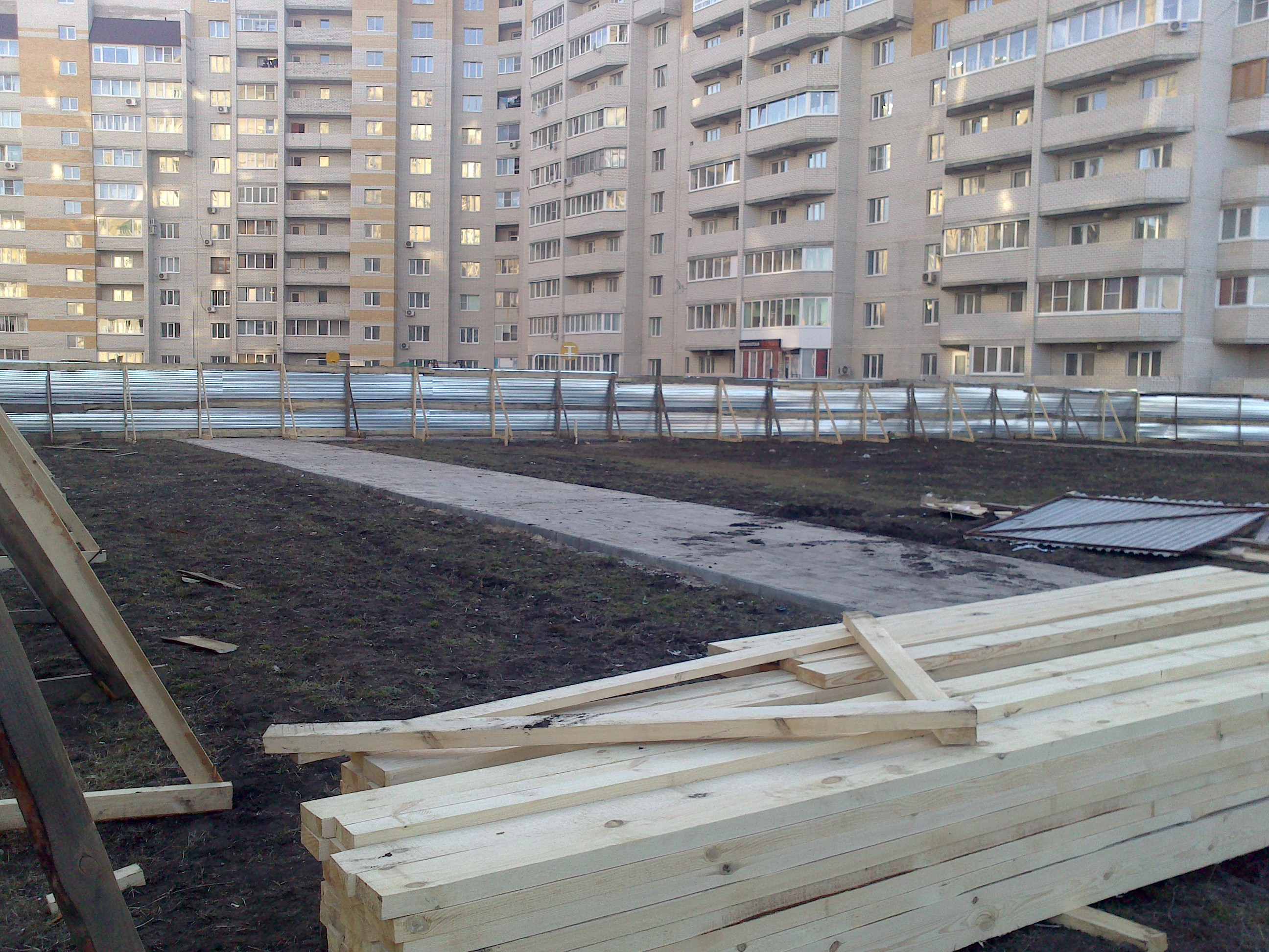 Строительство на Северо-Западной,8