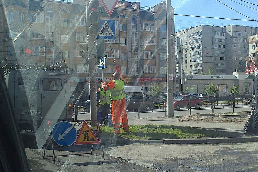 Мытье светофора
