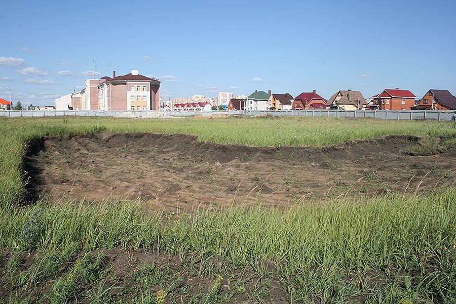 Котлован на территории будущей школы Сколково в Тамбове