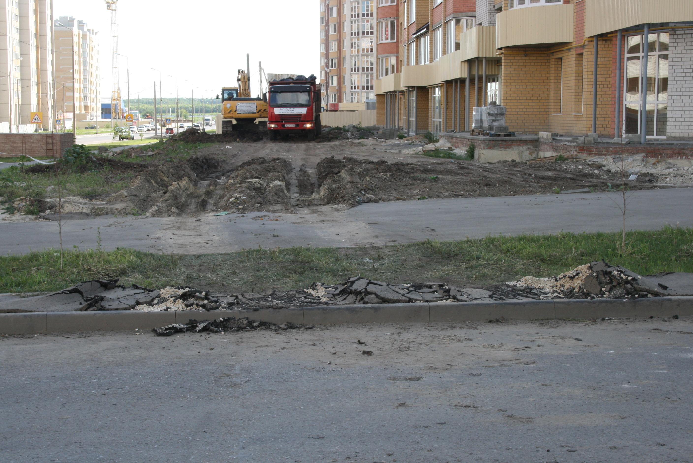 Разрушенный тротуар