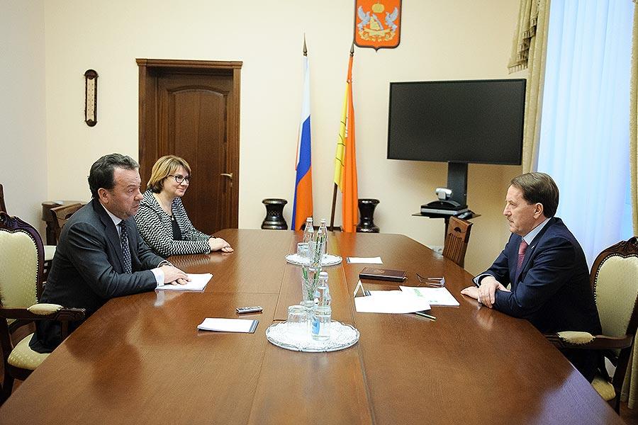 Владимир Салмин встретился с губернатором Воронежской области