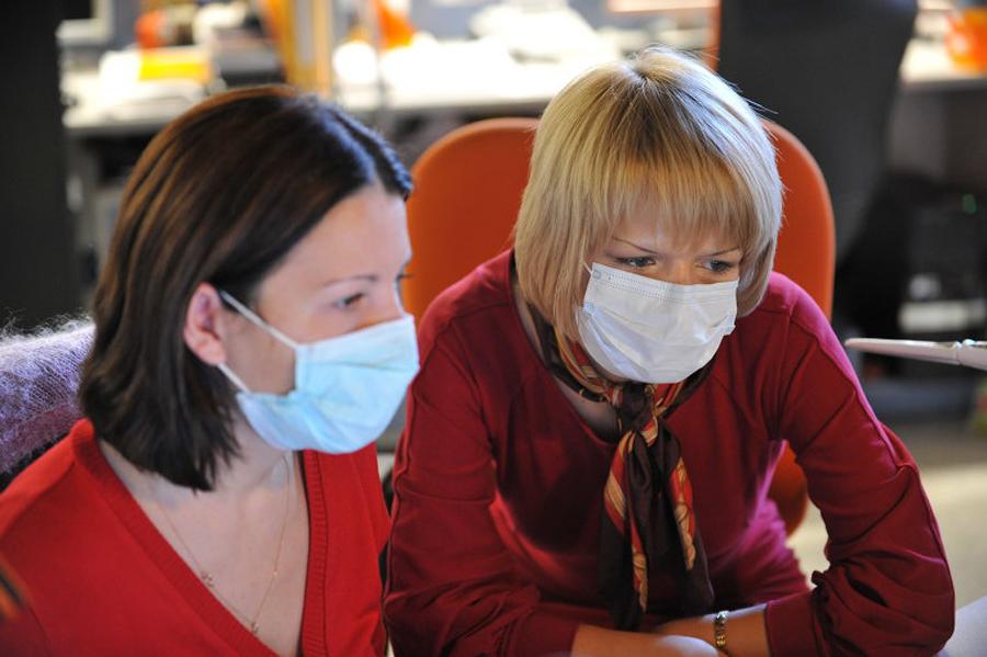 Эпидемия гриппа. Фото РИА Новости.