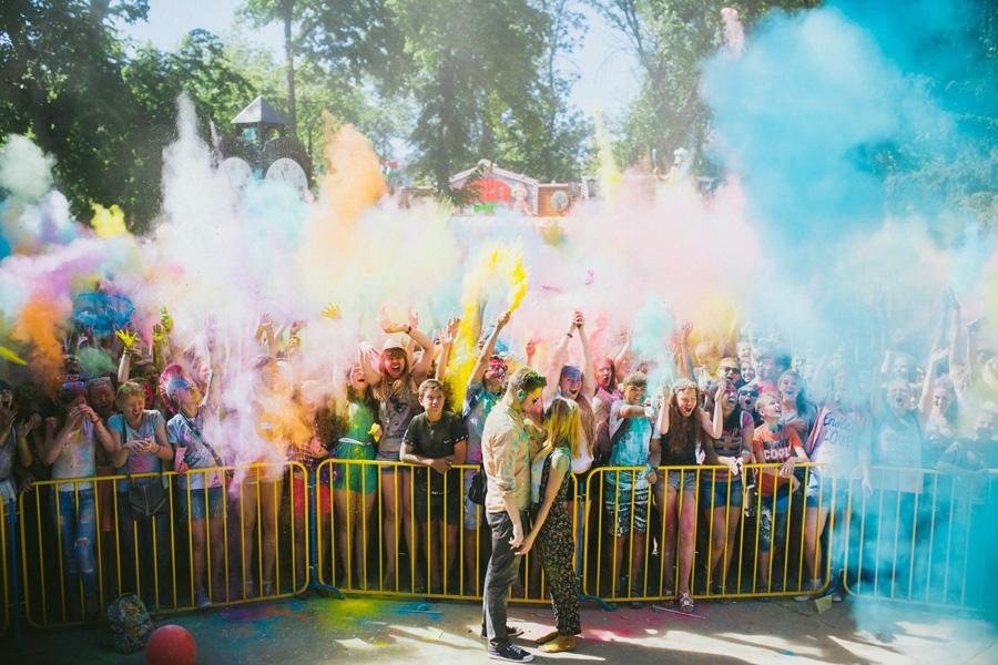 Фестиваль красок Холи в Тамбове