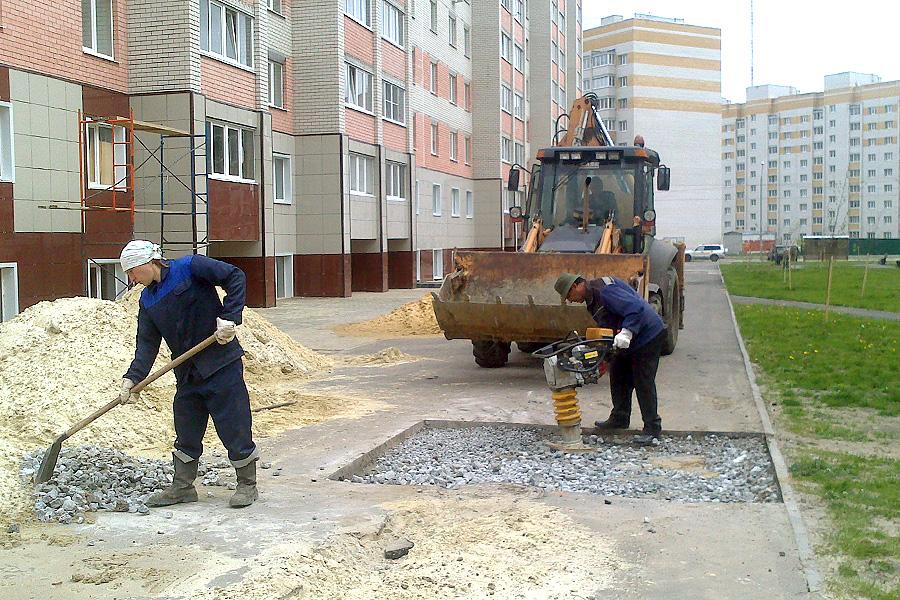 Восстановление тротуара
