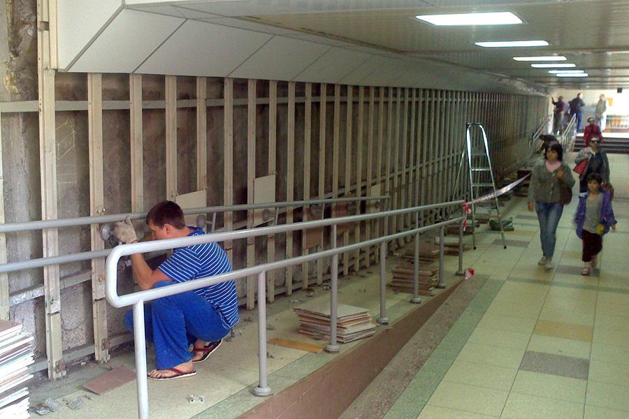 Ремонт подземного пешеходного перехода на Советской
