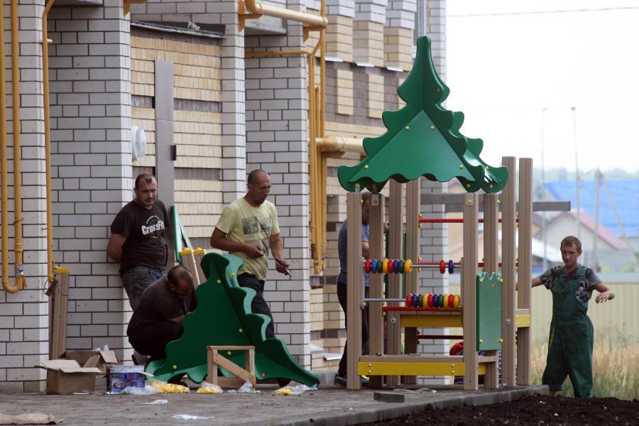 Установка детской площадки