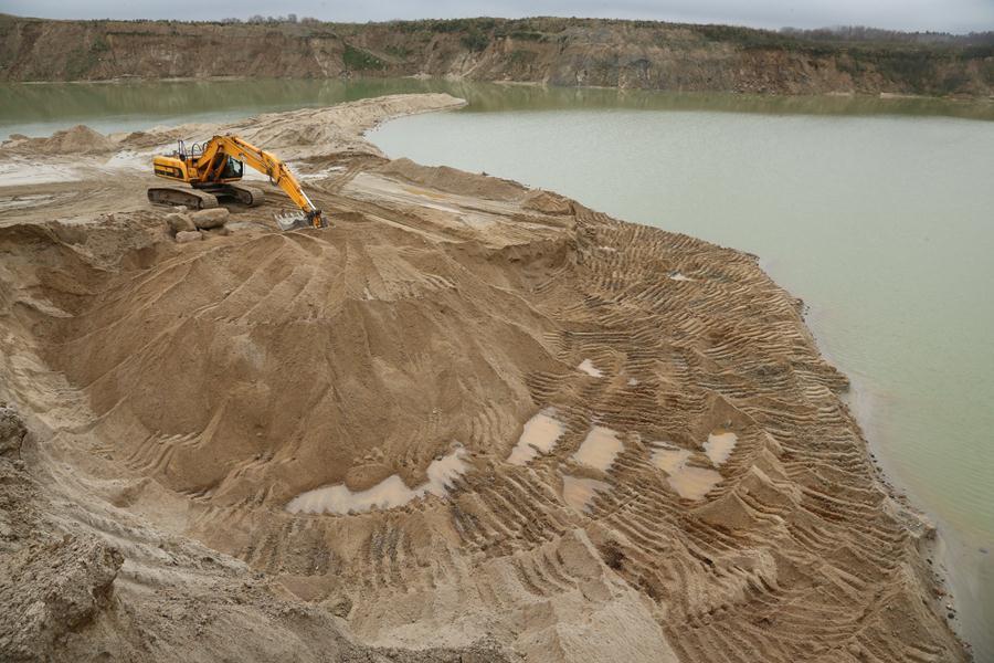 Разработка песка