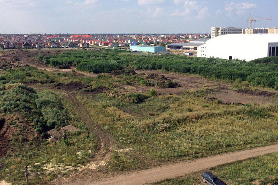 Расчистка территории будущего Олимпийского парка