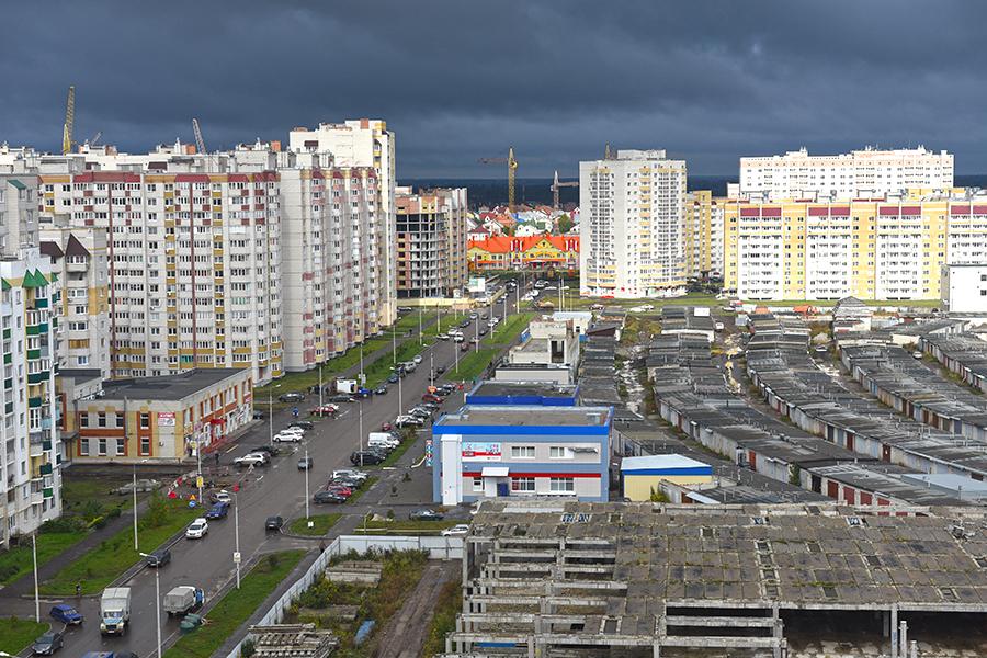 Вид на микрорайоны Москвский и Уютный