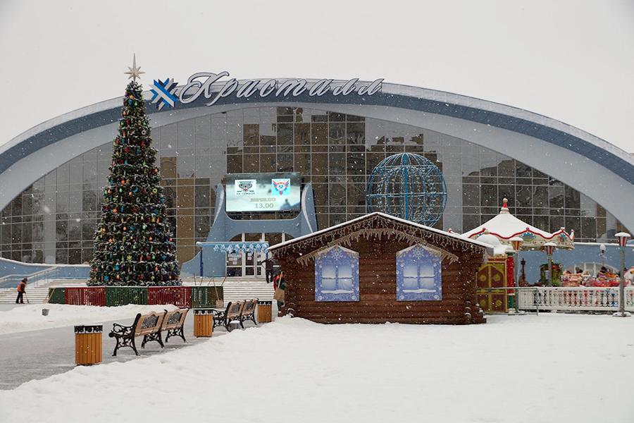 Новый год в Тамбове. Фото Владимира Якимова.
