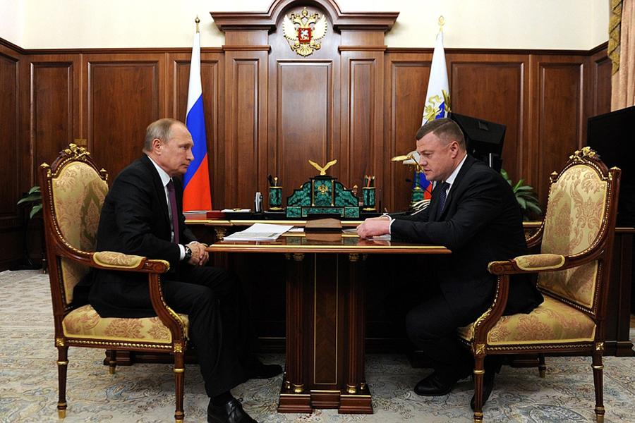 Александр Никитин и Владимир Путин