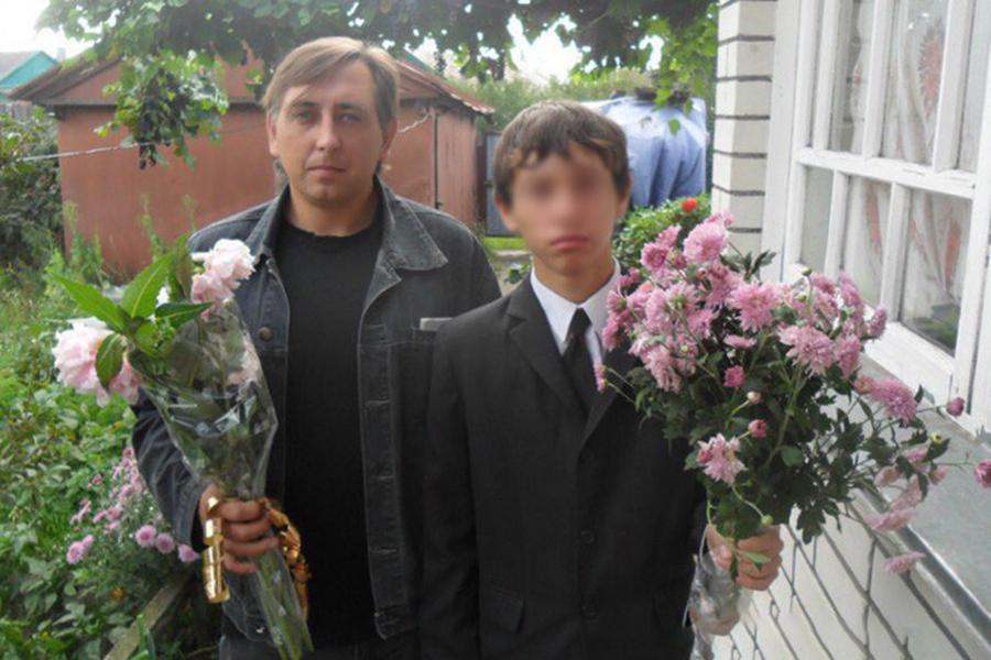Виктор К. с сыном Фото: соцсети