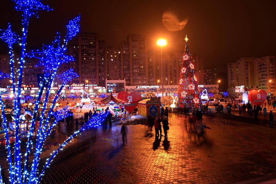 Новогодний Тамбов. Фото vk.com