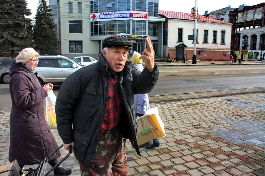Тамбовские пенсионеры не согласны с пикетчиком