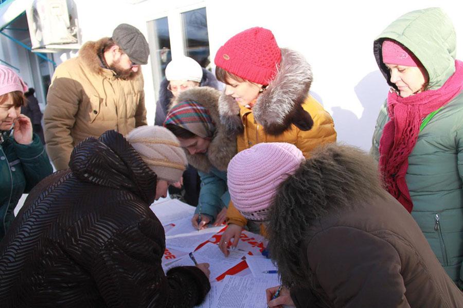 Сбор подписей в Котовске