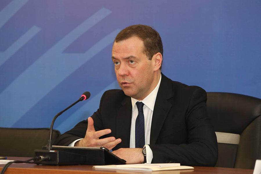 Дмитрий Медведев в Тамбове, фото Вадима Измайлова.