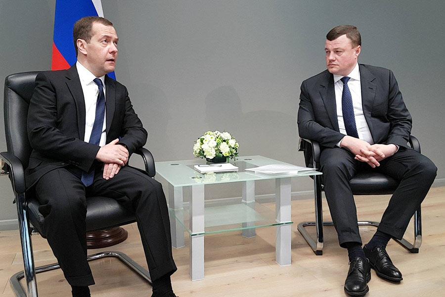 Дмитрий Медведев и Александр Никитин, фото Вадима Измайлова.