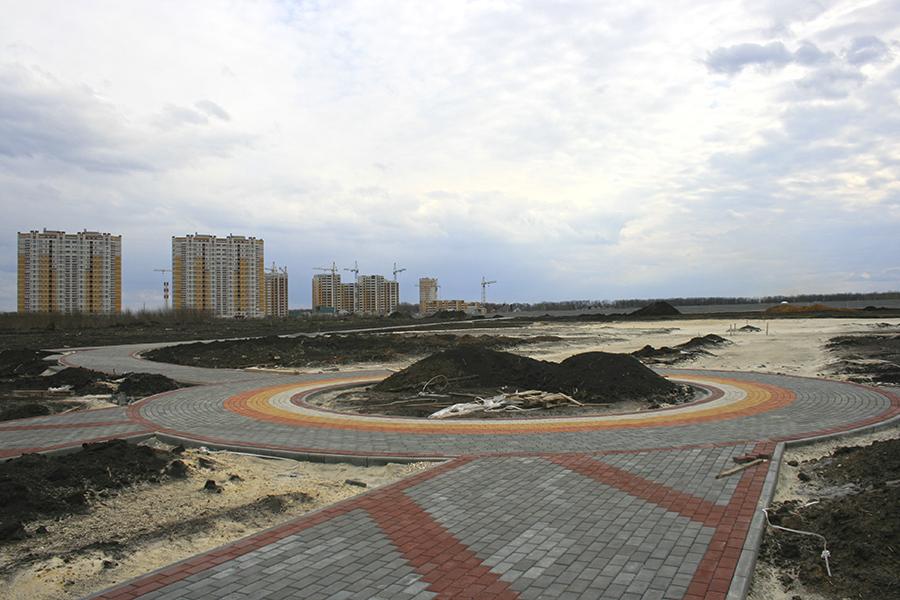 Строительство Олимпийского парка. Фото Сергея Жилина - Новый Тамбов