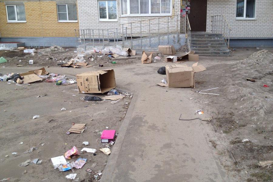 Двор в микрорайоне Московский