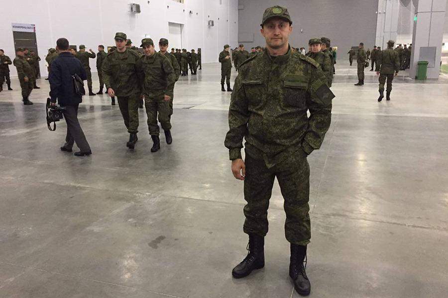 Александр Жупиков на военных сборах