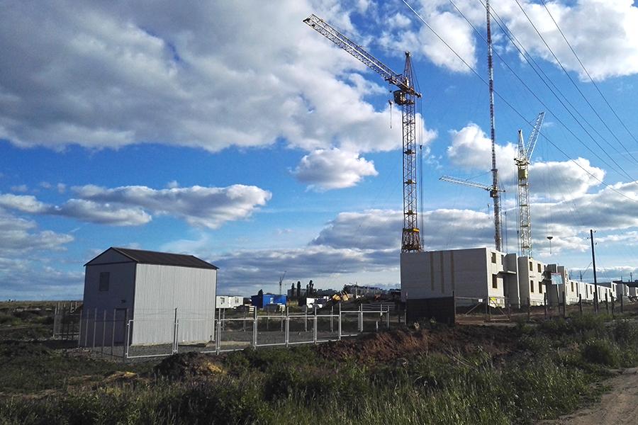 Канализационно-насосная станция, построенная для нужд микрорайона Майский