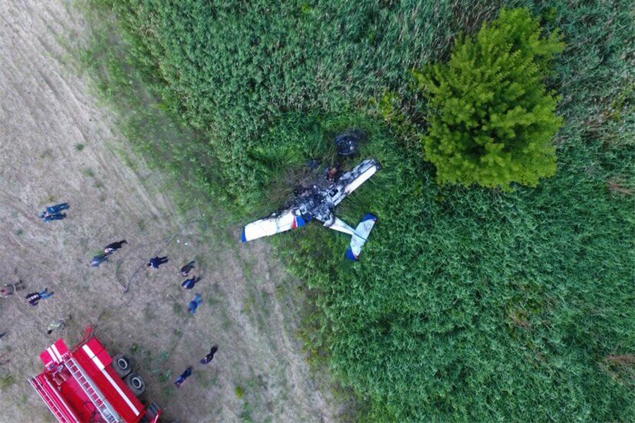 Крушение самолета. Фото Виктории Кузнецовой.