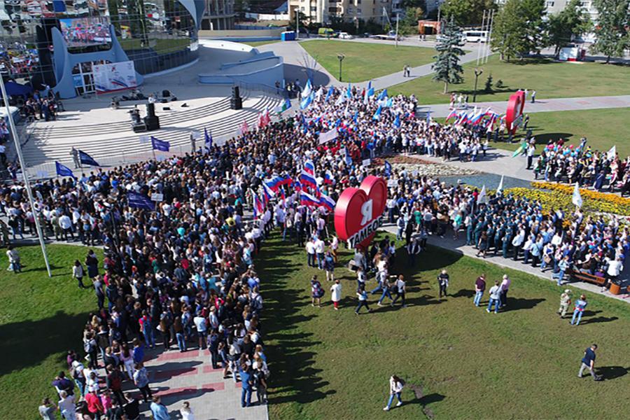 Парад студентов, фото Новый век.