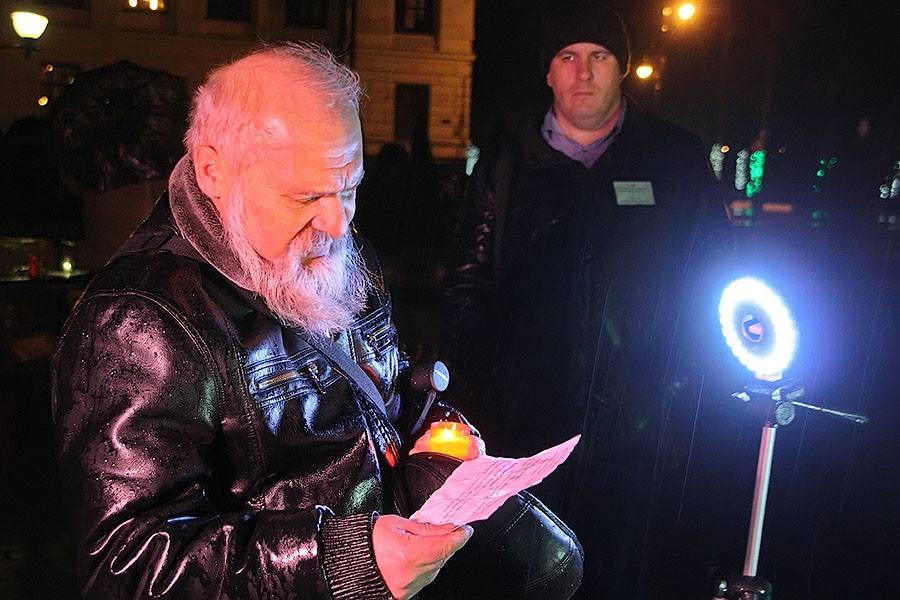 """Акция """"Возвращение имен"""" в Тамбове, фото Михаила Карасева"""