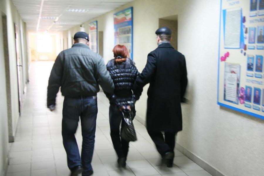 Задержание преступницы