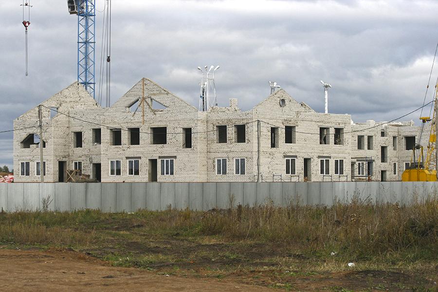 """Строящийся детский сад """"Волшебная страна"""" на севере Тамбова"""