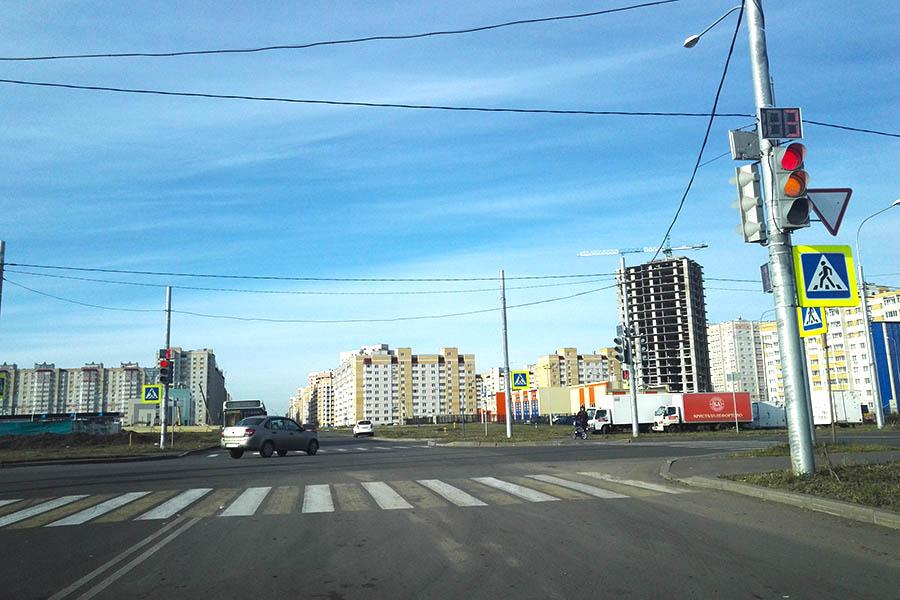 Пешеходный переход на Агапкина